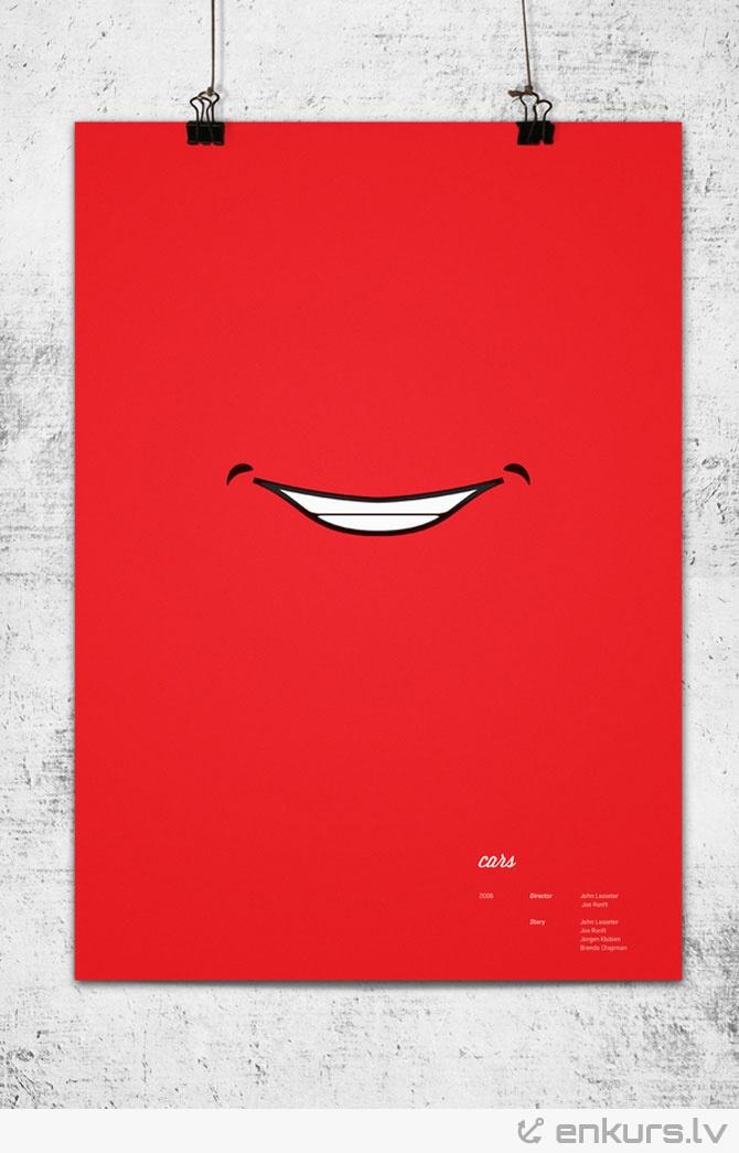 Minimālisma plakāti Pixar multfilmām