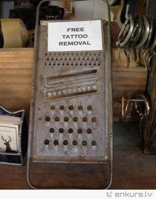 Bezmaksas tetovējumu noņemšana