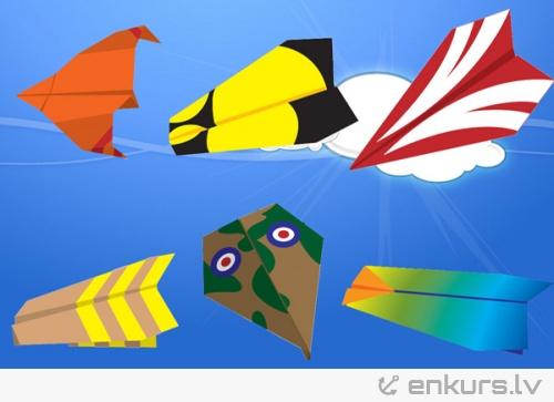 Cik veidu papīra lidmašīnas vari uzlocīt?