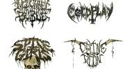 Popmūziķu metāliskie grupu logo
